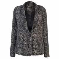 Biba Womens Snake Print Blazer Snake Print Дамски якета и палта