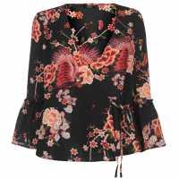 Only Nova Wrap Top Peachy Flower Дамски ризи и тениски