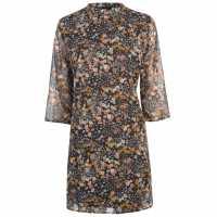 Jdy Elly Three Quarter Woven Dress NightSky Floral Дамски поли и рокли