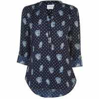 Miso Printed Blouse Ladies Navy/Blue Дамски ризи и тениски