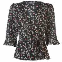 Fashion Union Fashion Nena Print Top Ladies WISPY FLORAL Дамски ризи и тениски