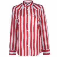 Wrangler Oversized Shirt Formula Red Дамски ризи и тениски