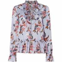 Biba Pep Victorian Blouse Blue Multi Дамски ризи и тениски