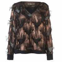 Biba Fluffy Star Blouse Womens Black Дамски ризи и тениски