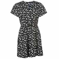 Miso Дамска Рокля Print Wrap Dress Ladies Polkadot Дамски поли и рокли