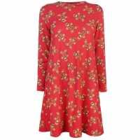 Star Десенирана Рокля Christmas Printed Dress G/Bread AOP Дамски поли и рокли