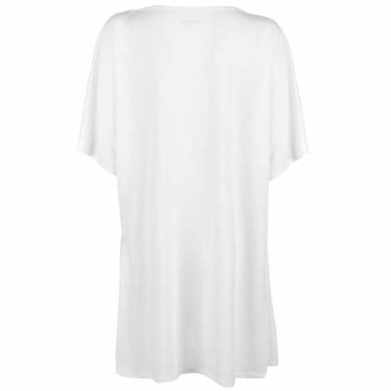 Golddigga Дамска Тениска Slogan T Shirt Ladies White Palm Tree Дамски тениски и фланелки