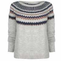 Only Плетен Пуловер Alba Knit Jumper Lght Grey Mel Дамски пуловери и жилетки