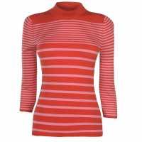 Jdy Max Stripe Jumper Fiery Red/Rose Дамски пуловери и жилетки
