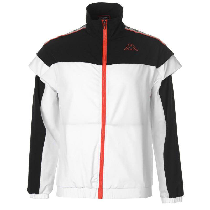 b36464a9191 Kappa Спортно Горнище Aaron Band Track Jacket Black/White Дамски спортни  екипи