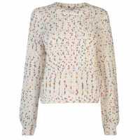 Only Плетен Пуловер Alexis Dot Knit Jumper Cloud/Multi Дамски пуловери и жилетки