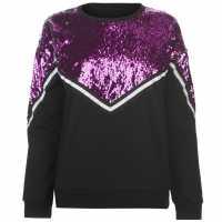 Golddigga Sequin Sweatshirt Ladies Black Дамски суичъри и блузи с качулки