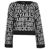 Juicy Stencil Logo Jumper Pitch Black Дамски суичъри и блузи с качулки