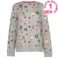 Star Дамска Блуза Обло Деколте Christmas Crew Sweatshirt Ladies Xmas Family AOP Коледни пуловери
