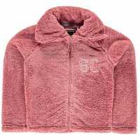 Soulcal Zip Snug Jackets Junior Girls Pink Marl Детски горнища и пуловери
