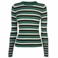 Only Laura Stripe Jumper Green/Blk Дамски пуловери и жилетки