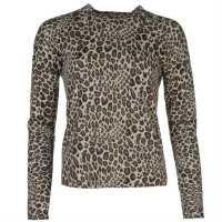 Golddigga Aop Knit Ld64 Leopard AOP Дамски пуловери и жилетки