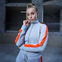 Sportfx Chessie King Zip Up Jumper Ladies Grey/Orange Дамски спортни екипи