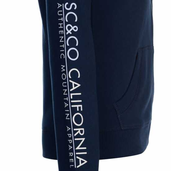 Soulcal Deluxe Mountain Hoodie Navy Дамски суичъри и блузи с качулки