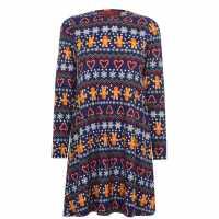 Star Рокля Жарсе Christmas Jersey Dress Ladies  Коледни пуловери