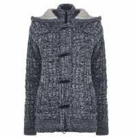 Soulcal Дамско Яке Toggle Knit Jacket Ladies Twist Ind Marl Дамски пуловери и жилетки