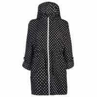 Soulcal Компактна Дамска Парка Pack A Parka Ladies Black Dot Дамски якета и палта