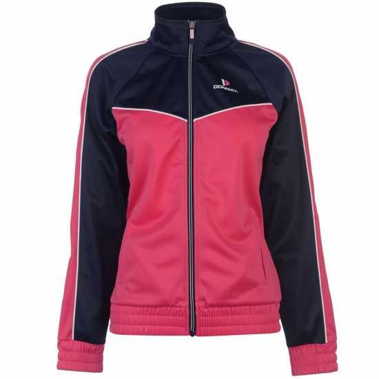 Donnay Дамски Спортен Екип Poly Tracksuit Ladies HotPink/Wht/Nvy Дамски спортни екипи