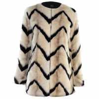 Only Палто С Изкусвен Костъм Bailey Faux Fur Coat Cld Dancer/Blk Дамски якета и палта