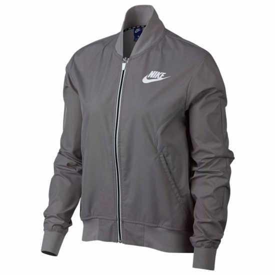 8f31b294e7e Nike Тъкано Дамско Яке Av15 Woven Jacket Ladies Grey Дамски якета и палта