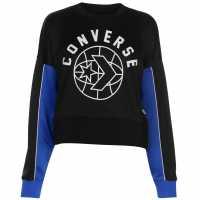 Converse Sport Crop Jumper Black Дамски пуловери и жилетки