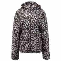 Lee Cooper Дамско Яке Leopard Print Jacket Ladies Black/White Дамски якета и палта