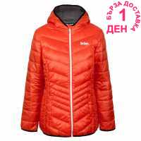 Lee Cooper Дамско Яке С Пух X Light Hooded Down Jacket Ladies Orange Дамски якета и палта