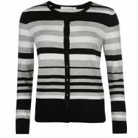 Miso Дамска Жилетка Stripe Button Cardigan Ladies Stone Дамски пуловери и жилетки