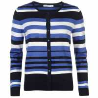 Miso Дамска Жилетка Stripe Button Cardigan Ladies Cobalt Дамски пуловери и жилетки