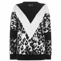 Religion Crown Leopard Print Jumper  Дамски пуловери и жилетки