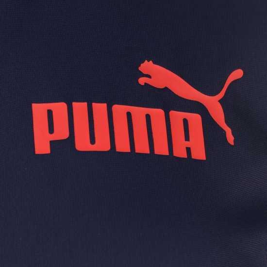 Puma Essentials Poly Tracksuit Top Ladies Navy/Red Дамски спортни екипи