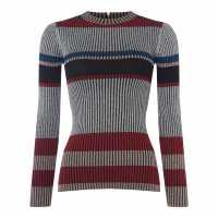 Biba Блуза С Обло Деколте Lurex Stripe Crew Neck Jumper Multi-Coloured Дамски пуловери и жилетки