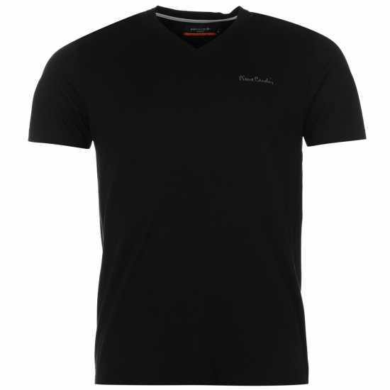 f69565d2a8f Pierre Cardin Мъжка Тениска V Neck T Shirt Mens Black Мъжки тениски и  фланелки