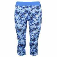 Дамски Клин Training Zone Aop Leggings Ladies Blue Дамско трико и клинове