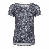 Oneill Дамска Блуза Къси Ръкави Shadow Short Sleeve T Shirt Ladies Black Дамски ризи и тениски
