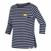 Regatta Polina  Three Quarter Sleeve T-Shirt Navy/WhtDog Дамски тениски с яка