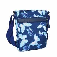 Miso Canvas Side Bag Blue Butterfly Дамски чанти