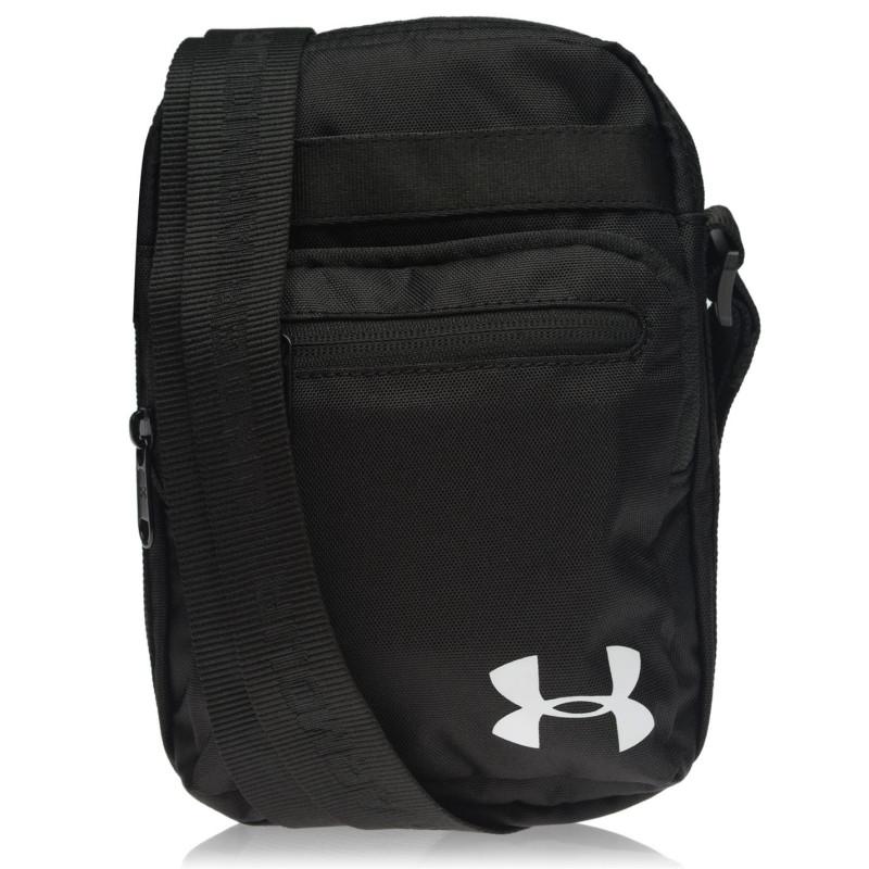 bef03871016 Under Armour Чантичка С Презрамка Gadget Bag Mens Black/White Чанти през  рамо
