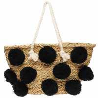 Glamorous Плажна Чанта Pom Pom Beach Bag  Дамски чанти