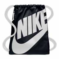 Sale Чанта За Спорт Nike Heritage Gym Sack Black/White Сакове за фитнес