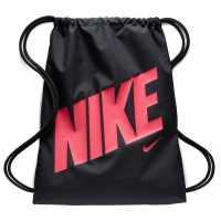 Nike Чанта За Спорт Graphic Gym Sack Black/Pink Сакове за фитнес