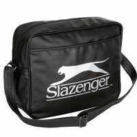 Slazenger Чанта През Рамо С Цип Flash Flight Bag Black/Silver Чанти през рамо