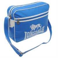 Lonsdale Чанта През Рамо С Цип Flight Bag Blue/White Чанти през рамо