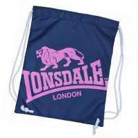 Lonsdale Чанта За Спорт Printed Gym Sack Navy/Pink Сакове за фитнес