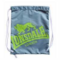 Lonsdale Чанта За Спорт Printed Gym Sack Charcoal/Lime Сакове за фитнес